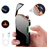 ASANMU Lichtbogen Feuerzeug, USB Elektro Feuerzeug Aufladbar Batterieanzeige Laserinduktion Dual...
