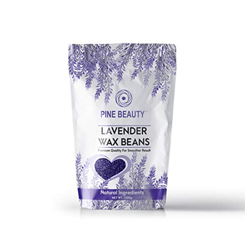 Wax Beans Hard Wax Beads Complete Kit for Painless Hair Removal 10 Extra Waxing Spatula Applicator for Bikini Area, Face, Legs, Eyebrow, Body Pearl Wax Warmer and Brazilian Wax (LAVENDER, 1.1)