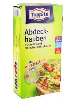 5 x Toppits® Abdeckhauben / Folien mit elastischem Bund (2 x S / 2 x M / 1 L) TOP QUALITÄT