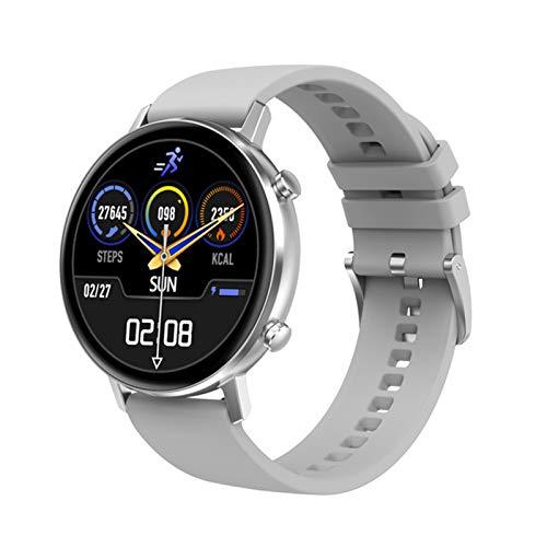 YZK Smart Watch Men's 360 * 360 HD Pantalla HD Dual UI Monitor de frecuencia cardíaca IP68 Waterptoof para Android iOS Teléfono móvil Ladies Watch SmartWatch,C