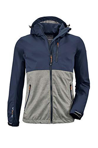 Killtec Nilon Softshell Jacke mit abzippbarer Kapuze Homme Bleu Marine Foncée FR : XL (Taille Fabricant : XL)