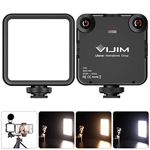 LED Video Light Dimmerabile Mini LED Luce Video Ultra Videocamera a Pannello,Luce Universale per Fotocamera,per Smartphone Telecamera Pocket Vlog Ligh