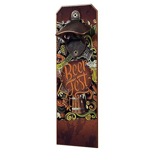 KADAX Apribottiglie da parete in acciaio, apribottiglie, levacapsule, apribottiglie da parete, apribottiglie di birra, apriscatole da appendere