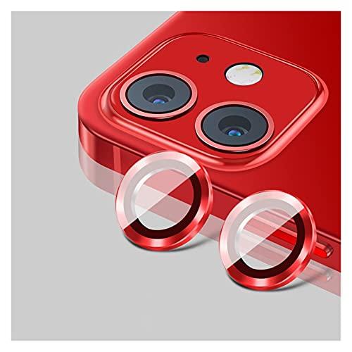 FXDC Y adecuado para I-Phone 12 Pro Max Back Metal Camera Lens Película de vidrio templado Adecuado para I-Phone 11 12 Pro Funda protectora Anillo de protección Película protectora
