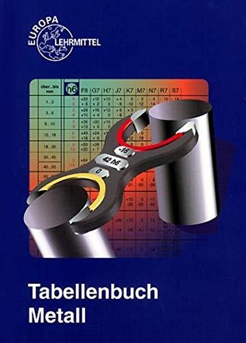 Tabellenbuch Metall mit Formelsammlung (Europa-Fachbuchreihe für metallverarbeitende Berufe)