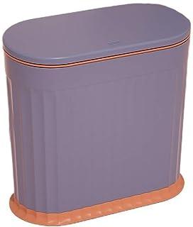 生ゴミ ゴミ箱ふた付き 小型おしゃれ家庭用シンプルゴミ箱かわいいプラスチック分類オムツ ゴミ箱バスルームリビングルーム寝室の (パープル)