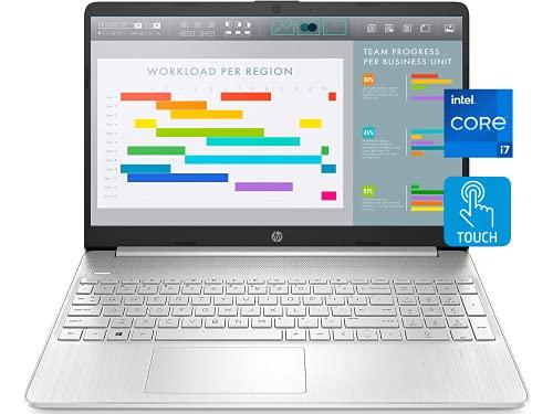 "2021 Newest HP 15 Laptop Notebook, 15.6"" FHD IPS Touchscreen, i7-1165G7, 16GB DDR4 RAM, 1TB PCIe SSD, Webcam, USB-C, HDMI, WiFi 6, Backlit Keyboard, Fingerprint Reader, Win 10 Home"