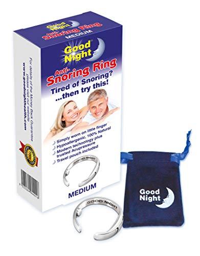 Good Night - Bague anti-ronflement - Solution naturelle utlisant 2 points d'acupression - Taille Medium