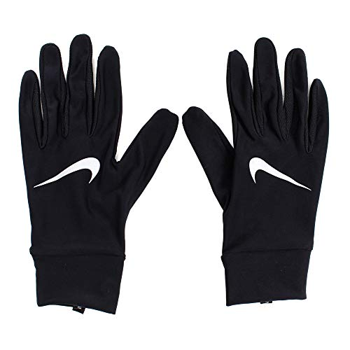 Nike Herren Mens Lightweight Tech Running Gloves 082 Handschuhe, Black/Silver, M