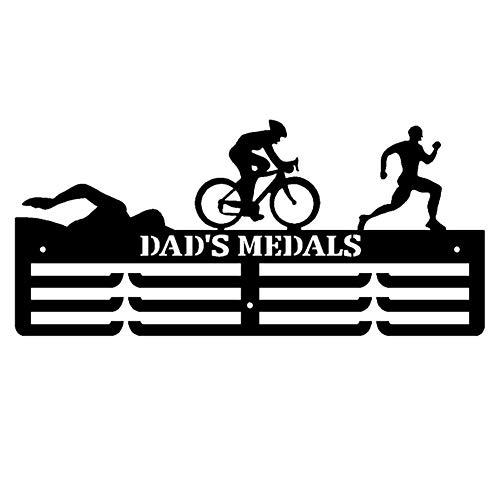 mysticall Running Medal Holder, Colgador de para medallas, Medallero de triatlón suspensión Doble Pantalla Colgador