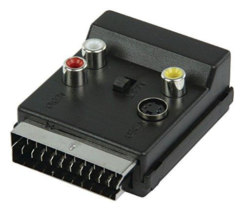 Valueline SCART60 Adattatore Scart 21 pin (maschio-femmina) passante + 3 RCA Audio Video e S-VHS