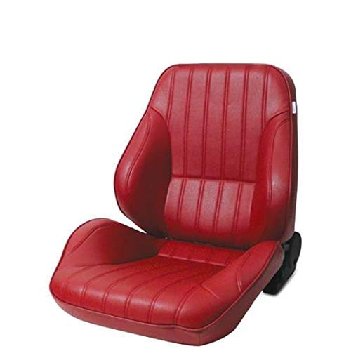 ProCar by Scat 80-1050-58L Red Vinyl Racing Rally Low Back Recliner Left Seat