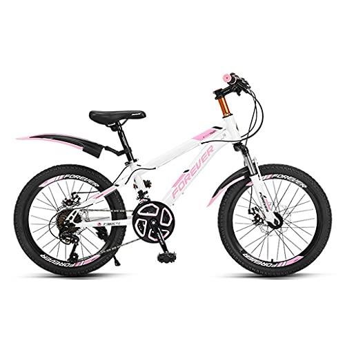 ZXQZ Bicicleta de 24 Velocidades, Bicicletas de Montaña Rígidas de 20/22 Pulgadas con Cojín de Asiento Ajustable, para Hombre y Mujer (Color : Pink, Size : 22in)