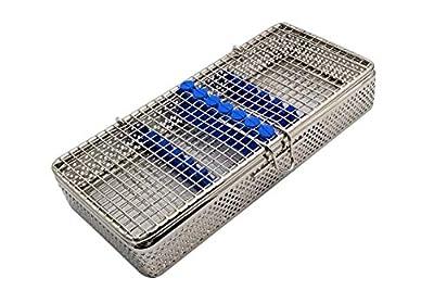 "Stainless Steel Sterilization Cassette for 7 Pieces MESH Tray Box 8""X4.24""X1.50"" ARTMAN Brand"