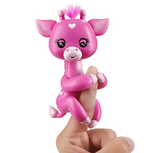 WowWee Fingerlings Baby Giraffe - Meadow (Pink) - Friendly Interactive Toy