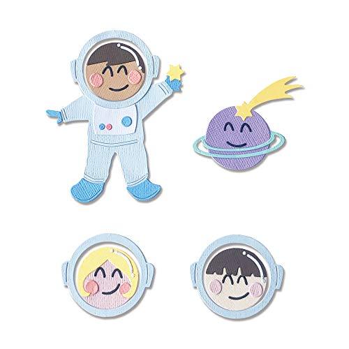 Sizzix 665090 Fustella Thinlits motivo astronauta di Olivia Rose 13 pezzi