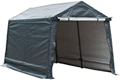 Sturdy Heavy Weight Frame - The heavy duty storage shelter frame was designed with 1.5 inch heavy gauge steel and metal corner joints so that the shelter is more stable, safe and less shaky, especially during high winds. The steel frame is powder coa...