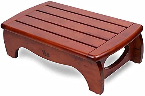 WDSZXH Cuarto de baño Impermeable One Paso Taburete para Niños Adultos, Madera Under Desk Desk Reposar Ergonomic para Oficina en el hogar, Sala de Estar de la Cocina, Cargar 120kg