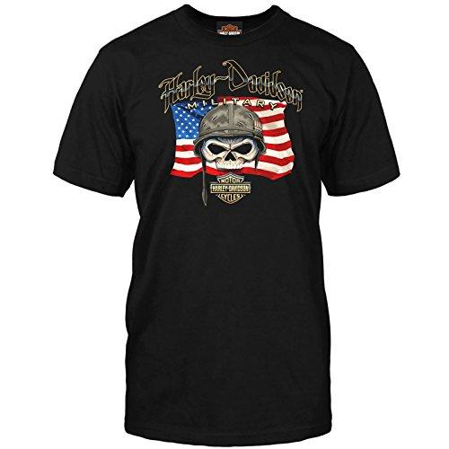 """Harley-Davidson Military – Herren-T-Shirt mit Aufdruck """"Willie G"""" - Schwarz - X-Groß"""