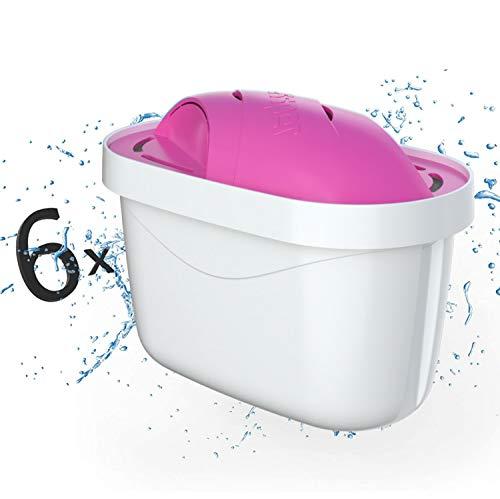 Magnesium Wasserfilter Kartuschen 6er Pack MG+ von Wessper Kompatibel mit Brita Maxtra Plus, 4-stufiges Filtersystem