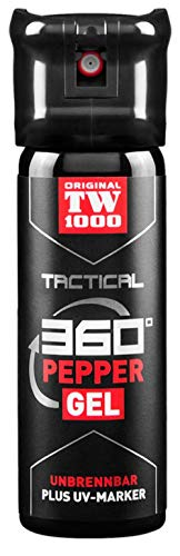 VIKING GEAR Original Behörden Pfefferspray TW1000 Tactical Pepper Gel Classic 45ml - Pfeffergel klebend mit UV-Marker - Selbstverteidigung - Tierabwehr - Survival-Kit