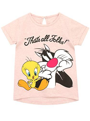 Looney Tunes Mädchen Sylvester und Tweety T-Shirt Rosa 122