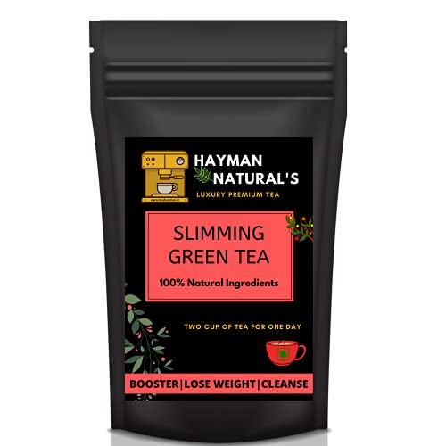 HAYMAN NATURAL'S Hayman Naturals Detox Slimming Green Tea for Weight Loss and Belly Fat Made with Garcinia Cambogia,Lemongrass-100% Natural (100g) -56 Cups