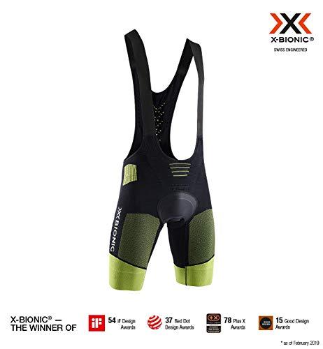 X-Bionic G2 Bike, Salopetta da Ciclismo Uomo, Opal Black/Effektor Green, M