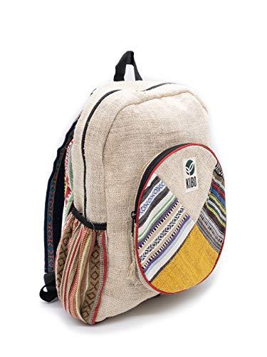 Kibo Hanf Rucksack Hemp Backpack KRS006, handgefertigt, Boho/Hippie-Style