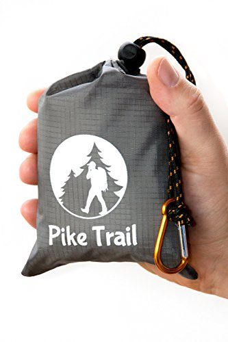 """Pike Trail Pocket Beach Blanket (60"""" X 56"""") – Lightweight Sand Proof Picnic Blanket, Compact Outdoor Blanket, Waterproof Pocket Blanket for Hiking, Camping, Picnics, Travel and Beach Trips"""