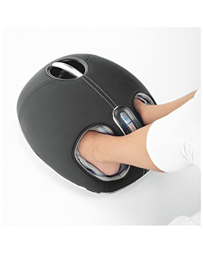 Brookstone F4 Shiatsu Foot Massager with Selectable Heat, Rollers and Air Compression
