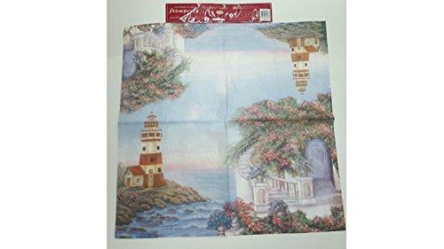 Tovagliolo in carta di riso 50×50 cm 14g Decoupage DFT176 Paesaggio marino