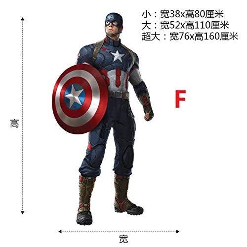 Marvel Superheroes Avengers Comic - Civil Wars - Captain America vs Iron-Man Giant Wall Decal Sticker Bundle 52 * 110CM-F A