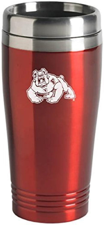 California State University, Fresno  16ounce Travel Mug Tumbler  Red