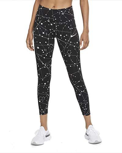 Nike Damen Speed Flsh 7_8 Tights, Black/Reflective Silv, XS