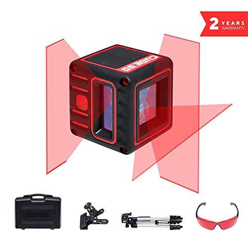 ADA Cube 3D Ultimate – Selbstausrichtende Laserwasserwage mit Kreuzstrahlen, 20m Arbeitsbereich (70m Modus mit Laser-Receiver). 2 vertikale und 1 horizontaler Strahl