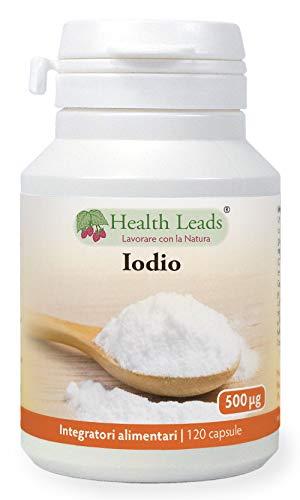 Iodio ad alta concentrazione 500mcg 120 capsule, Lo iodio contribuisce alla normale funzione tiroidea, Capsule piccole facilmente deglutibili, Senza stearato di magnesio, Vegano, Fatto in Galles