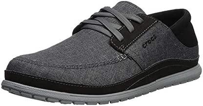 Crocs Men's Santa Cruz Playa Lace-Up Sneaker | Comfortable Casual Loafer, Slate Grey/Light Grey, 13 M US