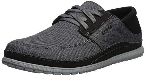 Crocs Men's Santa Cruz Playa Lace M Sneaker, Slate Grey/Light Grey, 10...