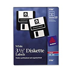 """Sold as 630/BX. Use permanent, 3-1/2"""" disk labels to create a professional and organized look for easy and quick identification. Avery offers many easy-to-use templates for Microsoft Word and other popular software programs. Labels with permanent adh..."""