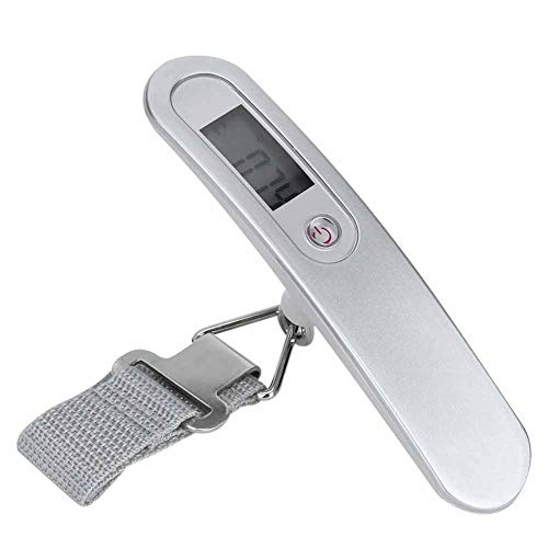LCD Digital 50kg Crane Scale, Electronic Mini Hanging Hook Scale Portable Luggage Scale for Travel/Home Weighing