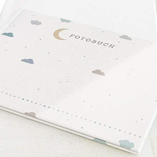 Fotobuch zum Selbstgestalten, Baby, Pastell Himmel, Fotoalbum, personalisierbar, leere weiße Innenseiten zum Fotos einkleben, Hardcover-Buch, A4 Querformat, 32 Seiten oder mehr - rosa blau
