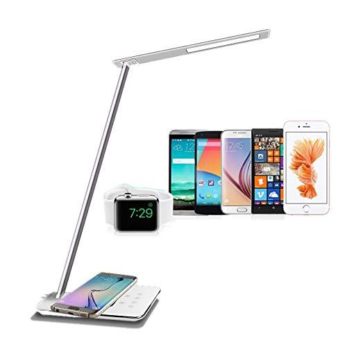 ELINKUME 5W Qi Schreibtischlampe Wireless Charging 48 * 4014 SMD LED Schreibtischlampe Modern Design 800LM Dimmbar Touch Schreibtischleuchten Flexibel Tischlampe