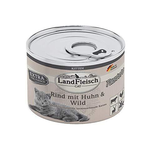 Landfleisch Cat Kitten Pastete Rind,Huhn&Wild | 6X 100g Katzenfutter