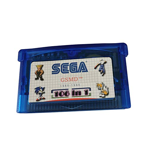 Multicart Game Cartridge for GBA 106in1 - Sega Retro Classics USA Version