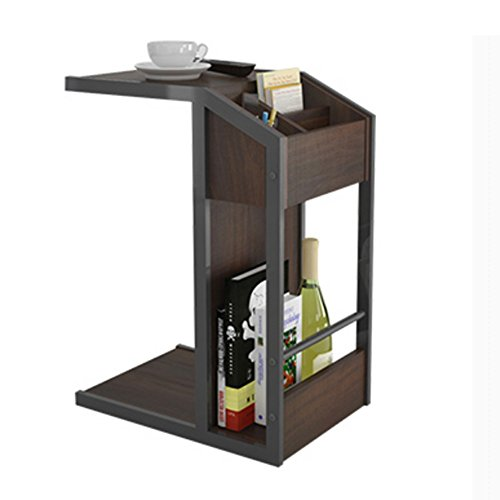 Zaixi Table Basse Table carrée Salon Table d'appoint Rangement Petite Table d'angle Forte capacité portante (Couleur : Walnut Black)
