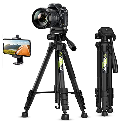 Endurax 66' Video Camera Tripod Stand Compatible with Nikon Canon, DSLR Cameras