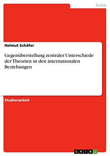 Gegenüberstellung zentraler Unterschiede der Theorien in den internationalen Beziehungen