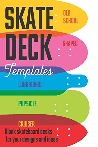 Skate deck templates: 6x9' Mini notebook for drawing and creating your own Skateboard designs