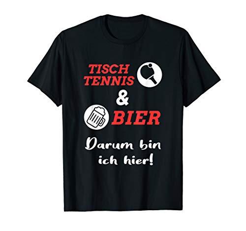 Tischtennis und Bier Tischtennisspieler Tisch Tennis T-Shirt